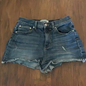 Pink size 6 jean shorts high wasted